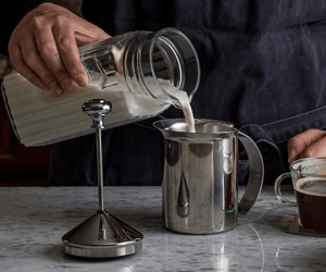 How to froth milk at home With Hand Pump Frother
