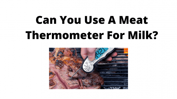 Can You Use A Meat Thermometer For Milk